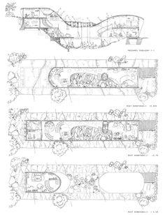 Zespół domów w układzie pasmowo-szeregowym. Projekt: Karolina Chodura, WA Politechniki Śląskiej Sheet Music, House Architecture, Sketch, Home Architecture, Sketch Drawing, Sketches, Music Sheets, Tekenen, Draw