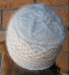 Celtic Star Cable Hat Womens Pattern for Knitting