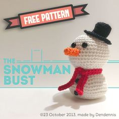 Free pattern of an easy Snowman Bust