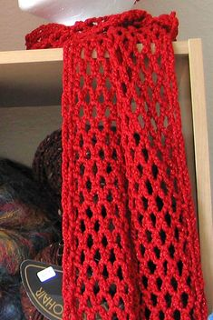Ravelry: Liquid Gold Chain Mesh Scarf pattern by Kathy North