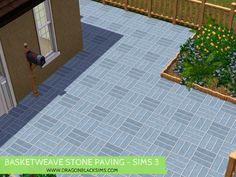 Basketweave Stone Paving Pattern - Sims 3 Patterns - Dragon Black Sims