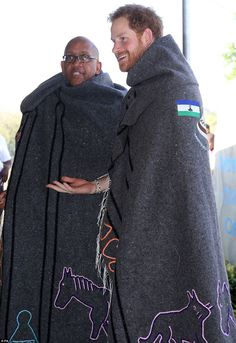 Prince Seeiso, who named the centre after his late mother, was also given an embroidered blanket