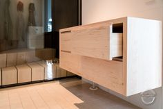 Storage unit from poplar wood Finnish Sauna, Solid Wood, Divider, The Unit, Cabinet, Bathroom, Storage, Projects, Furniture
