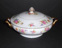 "Noritake Covered Serving Bowl ""Phyllis"" Pattern ~ Serving Dish ~ Vegetable Bowl ~ Vintage Noritake ""Phyllis""  Porcelain Bowl ~ China Bowl by VintageTrendyCharm on Etsy"
