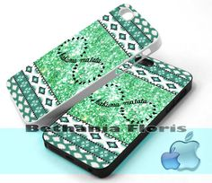 Hakuna-Matata-Green-Aztec - Print on hardplastic for iPhone 4/4s and 5 case, Samsung Galaxy S3/S4 case.