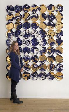 Wall Sculptures, Sculpture Art, Art Decor, Decoration, Ceramic Wall Art, Creation Deco, Plate Art, Diy Wall Art, Installation Art