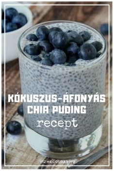 Chia Puding, Crossfit Diet, Paleo Dessert, Sweet Desserts, Paleo Recipes, Blueberry, Food And Drink, Low Carb, Keto