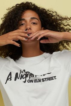 T-shirt with Motif - White/Nightmare on Elm Street - Ladies H&m Gifts, Nightmare On Elm Street, Halloween 2017, Fashion Company, Personal Style, T Shirts For Women, Lady, Cotton