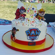 cake jees patrol paw paw patrol cake with hand sculpted edible chase and marshall pink icing llc gethimtochaseyou 3rd Birthday Cakes, Kids Birthday Themes, Boy Birthday Parties, Paw Patrol Birthday Theme, Paw Patrol Party, Pastel Paw Patrol, Fete Vincent, Snowflake Wedding Cake, Torta Paw Patrol