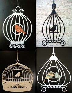 little retreats bird ornaments