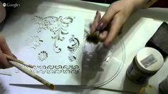 """""""Создание нежного переливчатого фона на прозрачной тарелке при обратном Декупаже"""" МК Фирдаус Батдаловой"""