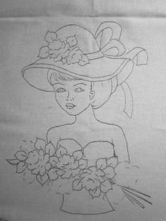 Painting & Drawing, Embroidery, Female, Drawings, Silhouette, Crochet Accessories, Canvas Art, Scribble, Paintings