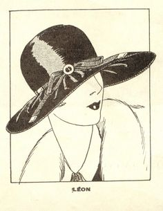 Léon Chapeaux ad, 1920s on Flickr.