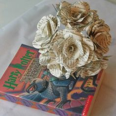 7 Harry Potter Roses Book Paper Roses 1 Paper by WearedCrafts