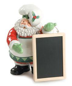 Look what I found on #zulily! Santa's Kitchen Memo Board Figurine #zulilyfinds