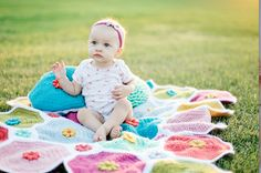 Flower Patch Quilt Picnic Blanket, Outdoor Blanket, Flower Patch, Patch Quilt, Blankets, Patches, Kids Rugs, Quilts, Children