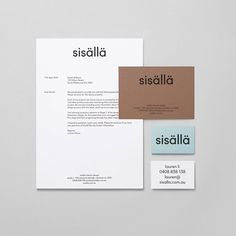 Sisällä branding by @mildredandduck #corporatedesign #graphicdesign #branding #minimal #businesscard #logo #logodesign #stationery #corporatedesign