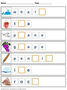 Free Printable Kids Kids Spelling games