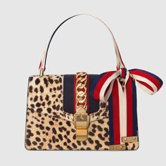 Sylvie leopard print shoulder bag