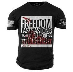 Freedom last as long as your willingness to defend it. Get it here: http://www.gruntstyle.com/index.php?route=product/product&path=82_59&product_id=1850