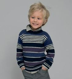 # Pull Garçon pattern by Phildar Design Team Ravelry: # Pull Garçon pattern by Phildar Design TeamRavelry: Garter Stripes / Garter Stripes Collar pattern by Strikkelisa An adult sized. Crochet For Boys, Knitting For Kids, Baby Knitting Patterns, Knit Baby Sweaters, Ethical Clothing, Handmade Clothes, Knit Crochet, Ravelry, Kids Fashion