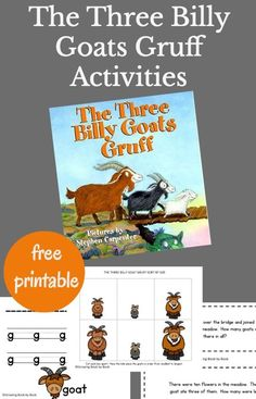 Unit study for The Three Billy Goats Gruff full of hands-on activities for preschoolers and kindergarteners. via @growingbbb