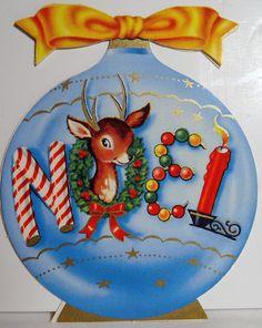 1950s  Ornament w/ Reindeer