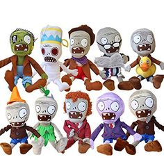 E.a@market Plants Vs Zombies 2 Plush Toys Stuffed Toys 10pcs Zombies @ niftywarehouse.com #NiftyWarehouse #PlantsVsZombies #Zombies #Gaming #VideoGames #Zombie