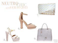 Lançamento Arezzo: coleção Alto Verão 2013 / Summer 2013. | Neutro Chic: blush e branco são cores tendência para o verão.