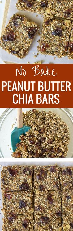 Kids love these Healhty No Bake Peanut Butter Chia Granola Bars! A freezer friendly recipe that's perfect for back to school breakfasts and snacks. {gluten free}