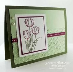 Blessed Easter Tulip stamp
