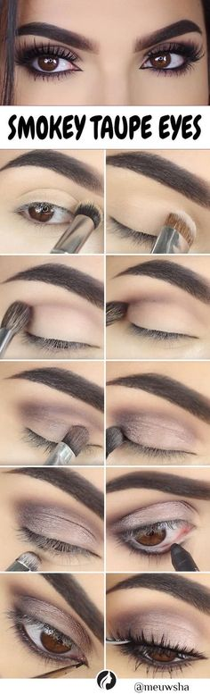 This step by step Smokey Taupe Eye Makeup DIY is perfect and can be followed easily. Check out! #diymakeup