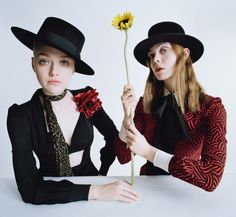 Elle & Dakota Fanning photographed by Tim Walker and styled by Jacob K for W magazine February 2015.