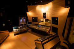 The control room at 25th Street Recording, Oakland.