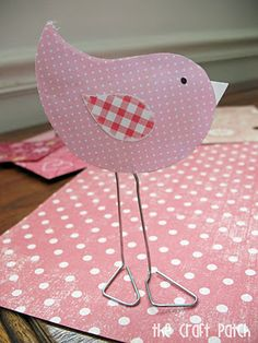 Paper Clip Love Birds, with everything you need probably already at home.