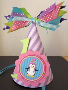 Colorful Penguin Party Hat by SerendipityPartyShop on Etsy, $10.00