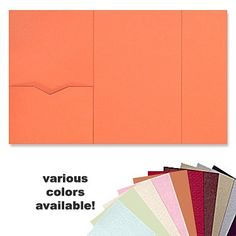 6 x 9 Gate Folio Pocket, Various Colors 5x7 Envelopes, Pocket Envelopes, Wedding Stationary, Wedding Invitations, Invites, Diy Wedding, Wedding Stuff, Wedding Ideas, Gate