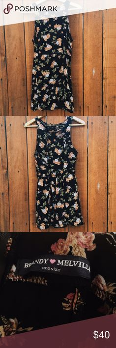 Brandy Melville • Floral Dress For the most part, it has an open back and upper back has straps that criss cross. Only worn once! 🚫No Trades🚫 Brandy Melville Dresses Backless