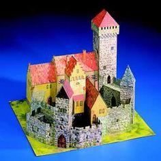 Maquetas de castillos para montar con recortables Castillo Bodiam, Medieval, Neuschwanstein Castle, Middle Ages, Zaragoza, Palaces, Castles, Majorca, Mid Century