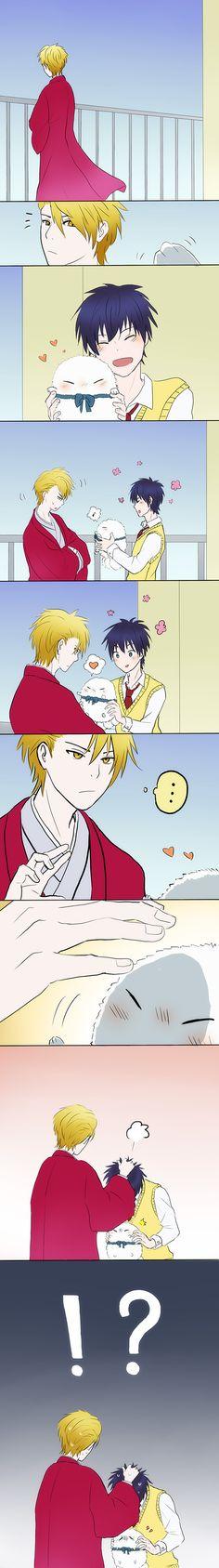 【安芦】なでなで Abeno Itsuki x Ashiya Hanae Fukigen Na Mononokean Love struck <3
