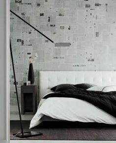 Empapelar las paredes: ideas originales