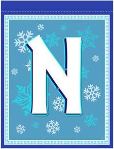 Banderines de Frozen para Imprimir Gratis. Frozen Birthday Banner, Frozen Banner, Frozen Fever Party, Frozen Theme, Monogram Alphabet, Alphabet And Numbers, Banner Letters, Disney Frozen, Party Printables