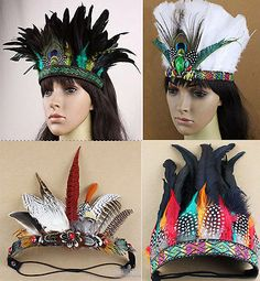 Indian Feather Headband Party Performance Hat Samba Carnival Headdress Headgear in Clothes, Shoes & Accessories, Women's Accessories, Hair Accessories Diy Carnival, Carnival Outfits, Carnival Masks, Carnival Costumes, Feather Crown, Feather Headpiece, Carnival Headdress, Indian Diy, Yellow Costume
