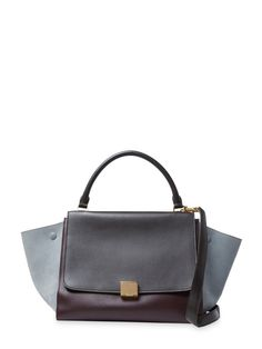 Tricolor Leather & Suede Trapeze Medium from Best of 2015: Vintage Designer Accessories on Gilt