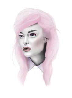 Fashion Illustration - The Woman in Pink Art Print | #mystylerepublic #art | www.mystylerepublic.com