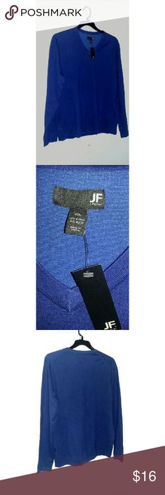 PERFECT GIFTBlue V Neck Sweater Men's blue v neck Sweater. Soft warm material. Color may varie a bit do to lighting. jf j.ferrar Sweaters V-Neck