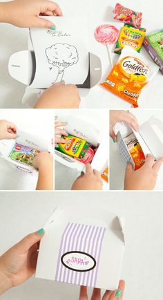 DIY Kids Wedding Favor Box with free coloring sheets More