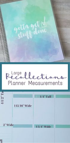 large recollections planner measurements