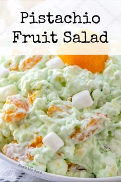 Whether you call it Pistachio Fluff Pistachio Fruit Salad or Watergate Salad this creamy green fruit salad with marshmallows is a hit among children and adults! A family favorite side dish at any meal which requires one bowl and can be made in advance. Winter Desserts, Desserts For A Crowd, Delicious Desserts, Watergate Salad Recipes, Fruit Salad Recipes, Watergate Cake, Jello Recipes, Easter Recipes, Pistachio Fluff