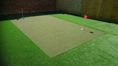 Choosing a combination of Trulawn Luxury and Trulawn ProPutt, his garden is free to play on all year as well as enjoying his putting grass installation. Backyard Projects, Grass, Golf, Backyard Designs, Grasses, Herb, Wave, Polo Neck